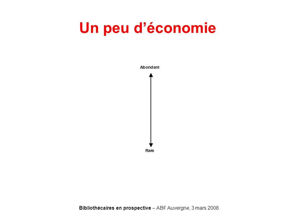 Bibliothécaires en prospective – ABF Auvergne, 3 mars 2008 Un peu déconomie