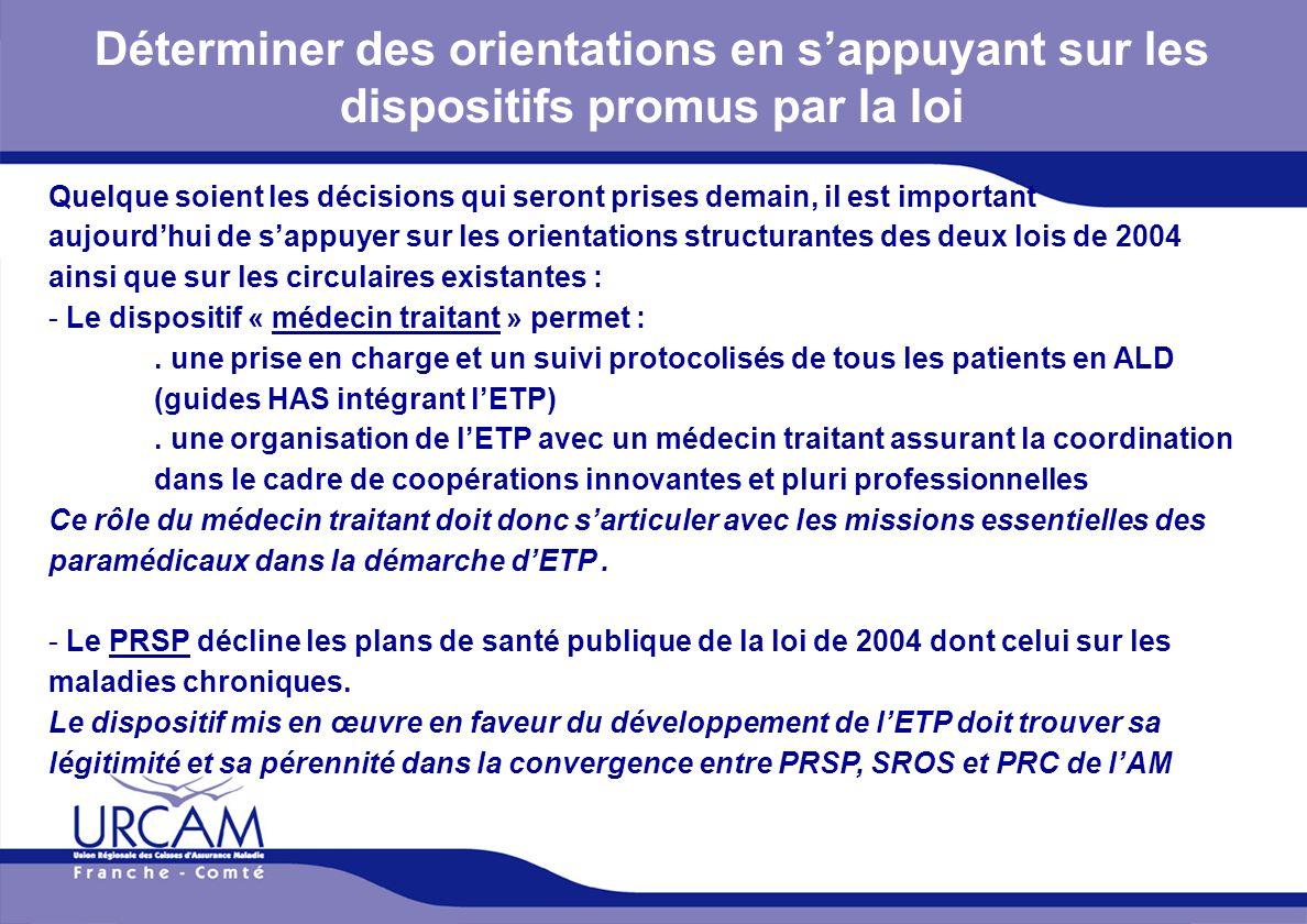 URCAM - 12/01/2014 Déterminer des orientations en sappuyant sur les dispositifs promus par la loi Quelque soient les décisions qui seront prises demai