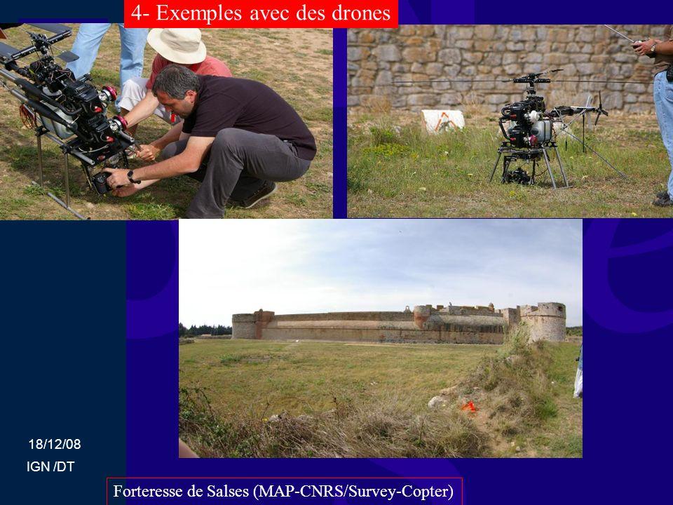 18/12/08 IGN /DT Forteresse de Salses (MAP-CNRS/Survey-Copter) 4- Exemples avec des drones