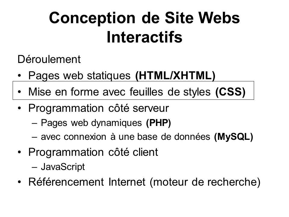 Priorités de CSS p { color: #FF0000; /* rouge */ text-align: center; } p.vert { color: #00FF00; /* vert */ text-align: left; } p#mix { color: #0000FF; /* bleu */ } Enigme 1 Enigme 2 Enigme 3 Enigme 4 index.php style.css