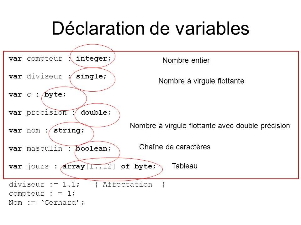 type t_tableau = array[1..15] of integer; var tab : t_tableau; function enigme(quoi : integer, n : integer) : integer; var inf, sup, milieu : integer; var trouve : boolean; début inf := 1; sup := n; trouve := FAUX; tant que (sup >=inf ET trouve = FAUX) faire milieu := (inf + sup) DIV 2; si (quoi = tab[milieu]) alors trouve := VRAI; sinon si (quoi < tab[milieu]) alors sup := milieu -1; sinon inf := milieu + 1; fin si fin tant que si (trouve = FAUX) alors result := 0; sinon result := milieu; fin si fin T(n) = 7log 2 n+5 O(log n) !