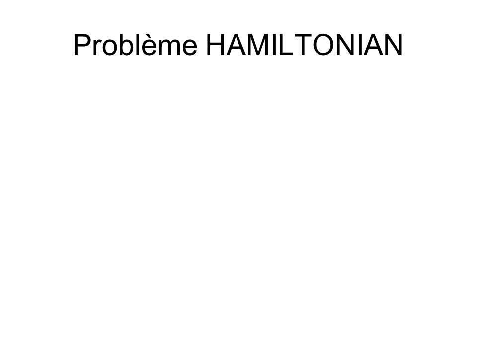 Problème HAMILTONIAN