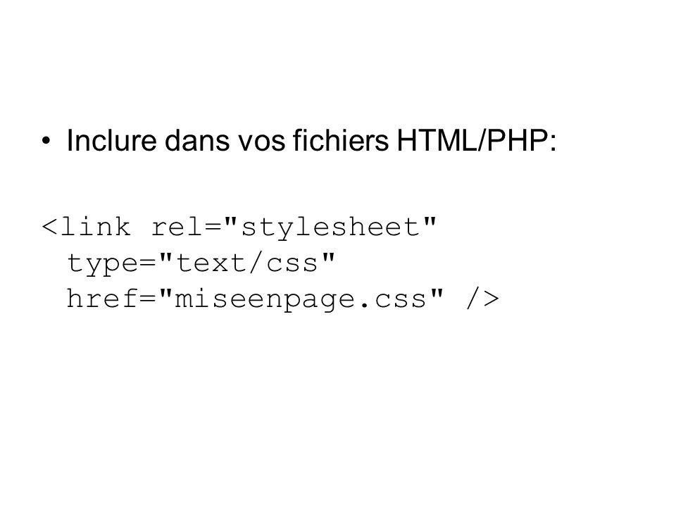 Inclure dans vos fichiers HTML/PHP:
