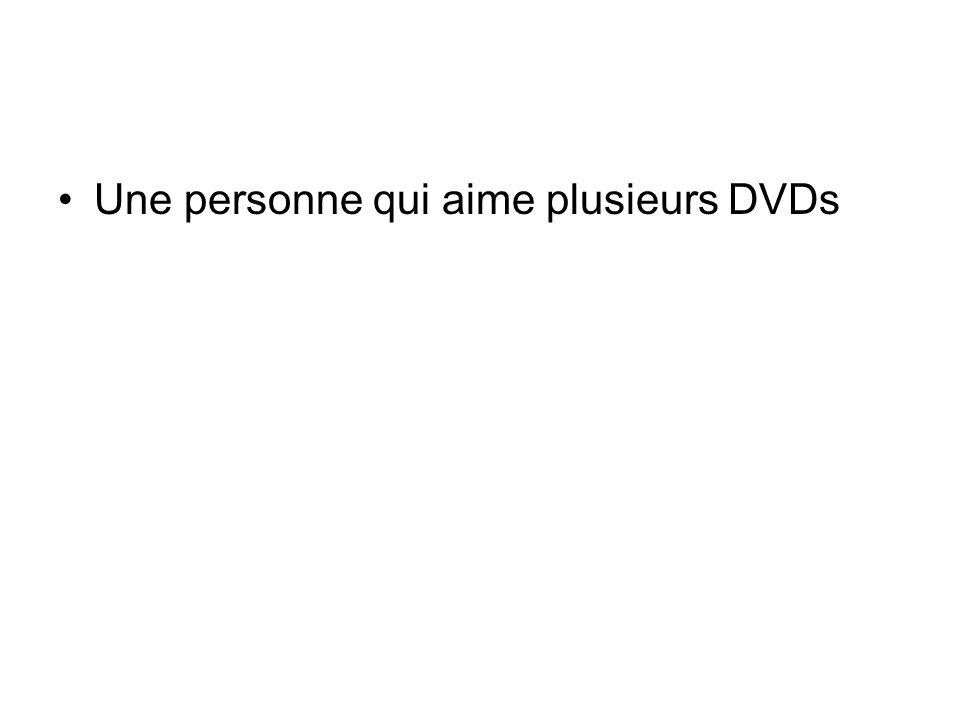 Une personne qui aime plusieurs DVDs