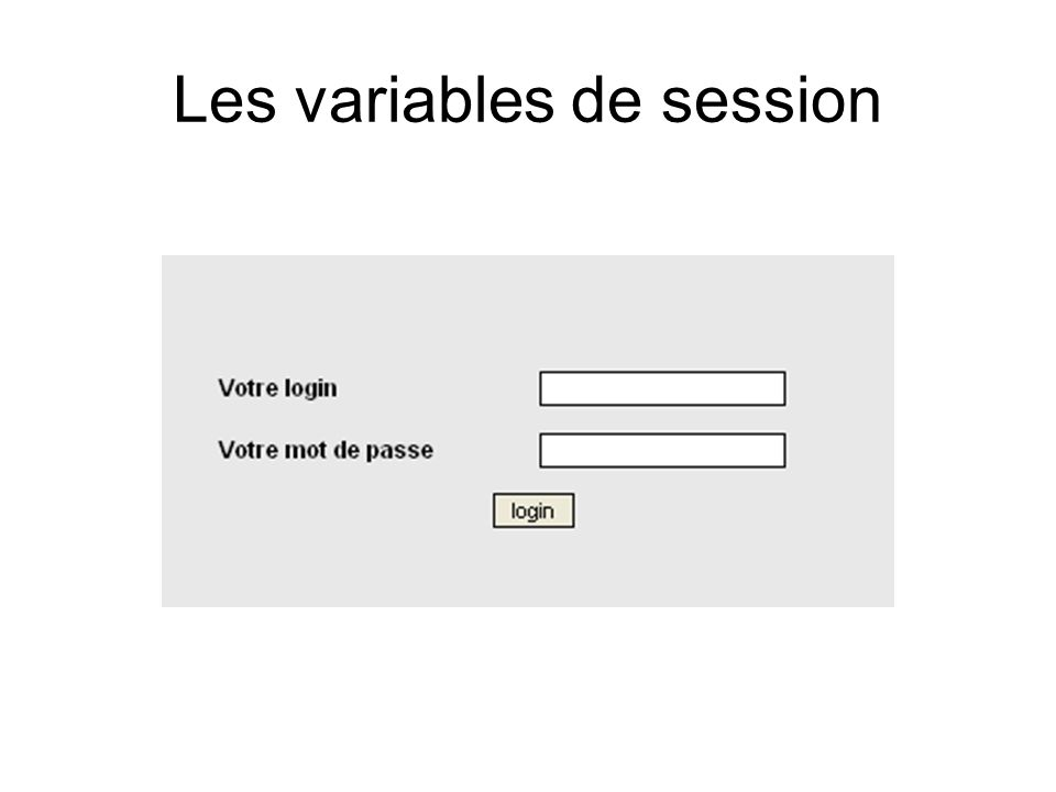Les variables de session