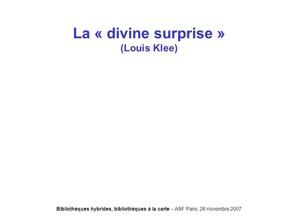 Bibliothèques hybrides, bibliothèques à la carte – ABF Paris, 26 novembre 2007 Desesperate