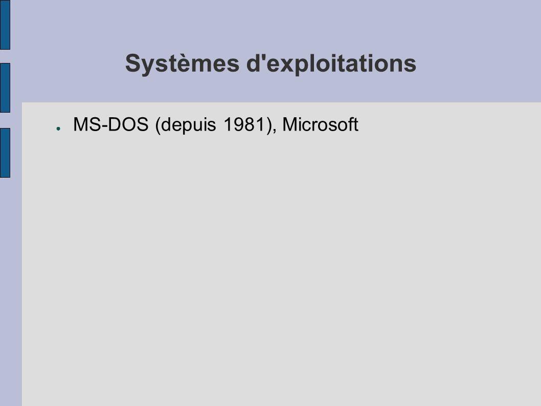 Systèmes d'exploitations MS-DOS (depuis 1981), Microsoft