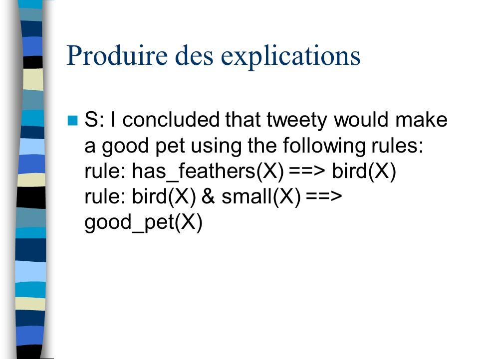 Produire des explications ?- find_good_pet.S: Does lenny have feathers.