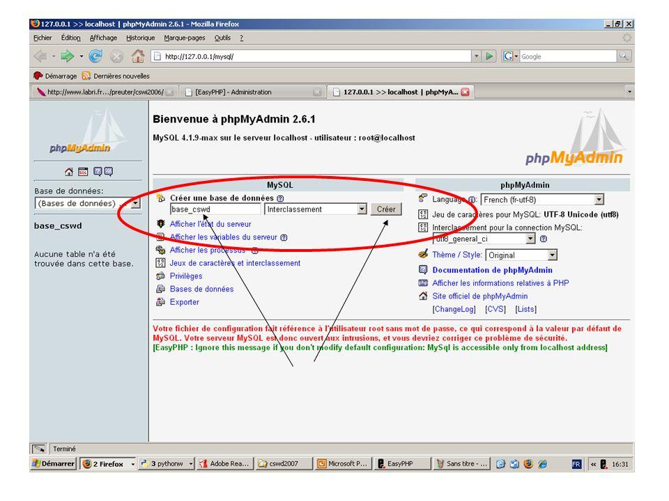 Interaction de PHP avec MySQL <?php // inclure la connexion à la base de données require_once connect_db.php ; // exécuter une requete MySQL $sql = ; $resultat = qdb($sql); // connaitre le nombre d enregistrements $nombre_resultats = mysql_num_rows($resultat); // parcourir le tableau des enregistrements while ($enregistrements = mysql_fetch_array($resultat)) { echo $enregistrements[ nom ]; echo $enregistrements[ texte ]; }; ?> Nombre de résultats : <?php // inclure la connexion à la base de données require_once connect_db.php ; // exécuter une requete MySQL $sql = ; $resultat = qdb($sql); // connaitre le nombre d enregistrements $nombre_resultats = mysql_num_rows($resultat); // parcourir le tableau des enregistrements while ($enregistrements = mysql_fetch_array($resultat)) { echo $enregistrements[ nom ]; echo $enregistrements[ texte ]; }; ?> Nombre de résultats : SELECT * FROM livreor WHERE nom = Helena ; Nombre de résultats :