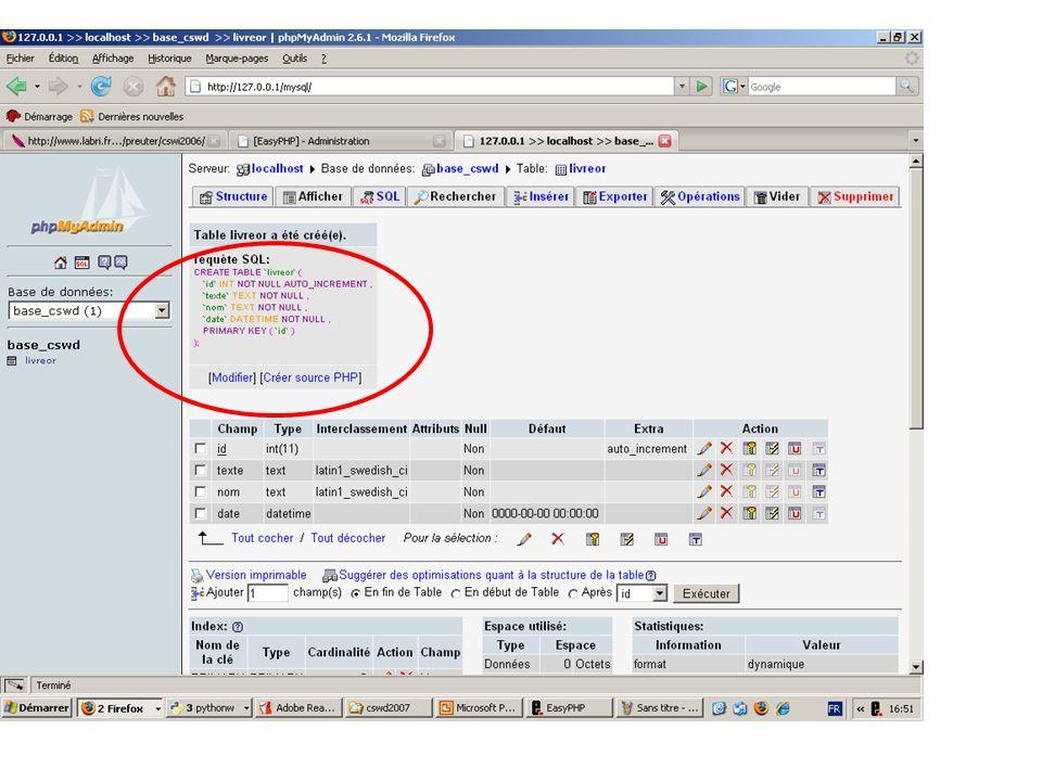 Insérer un enregistrement dans la base de données avec PHP