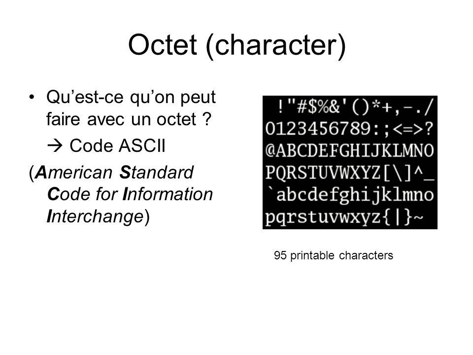Octet - Code ASCII