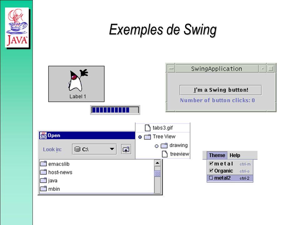 Exemples de Swing