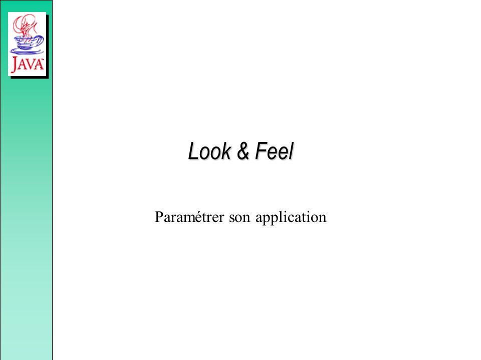 Look & Feel Paramétrer son application