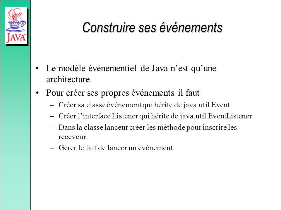 Construire ses événements Le modèle événementiel de Java nest quune architecture.