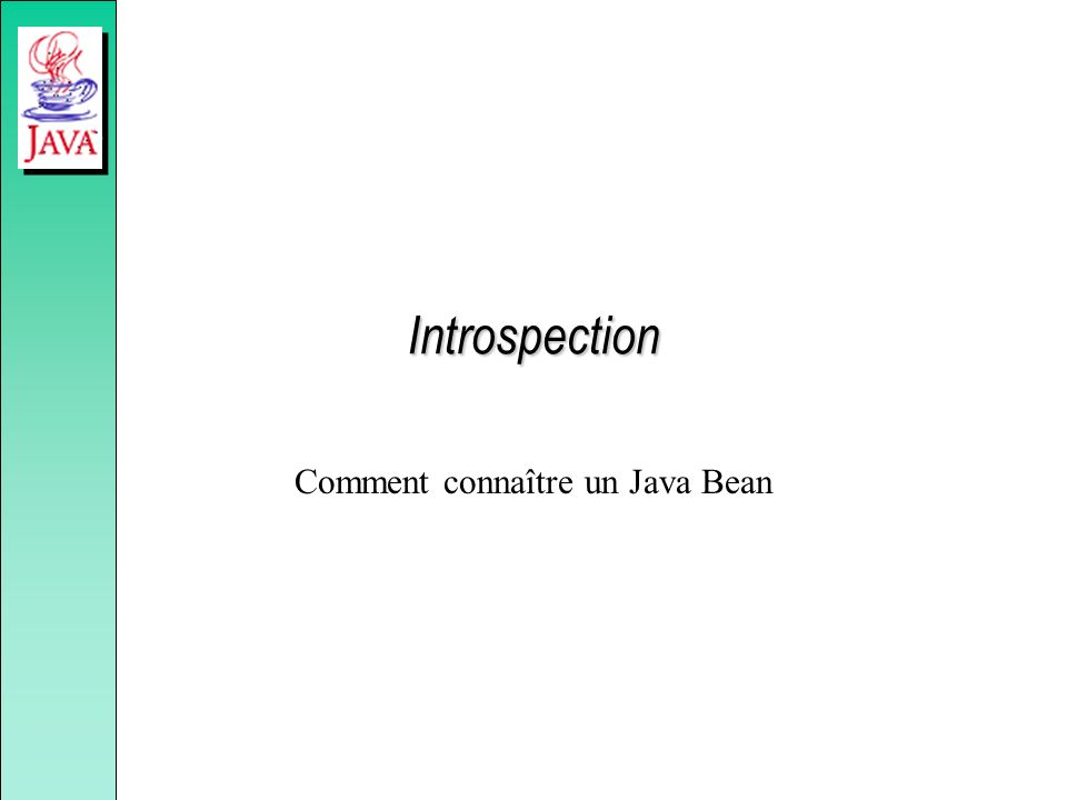 Introspection Comment connaître un Java Bean
