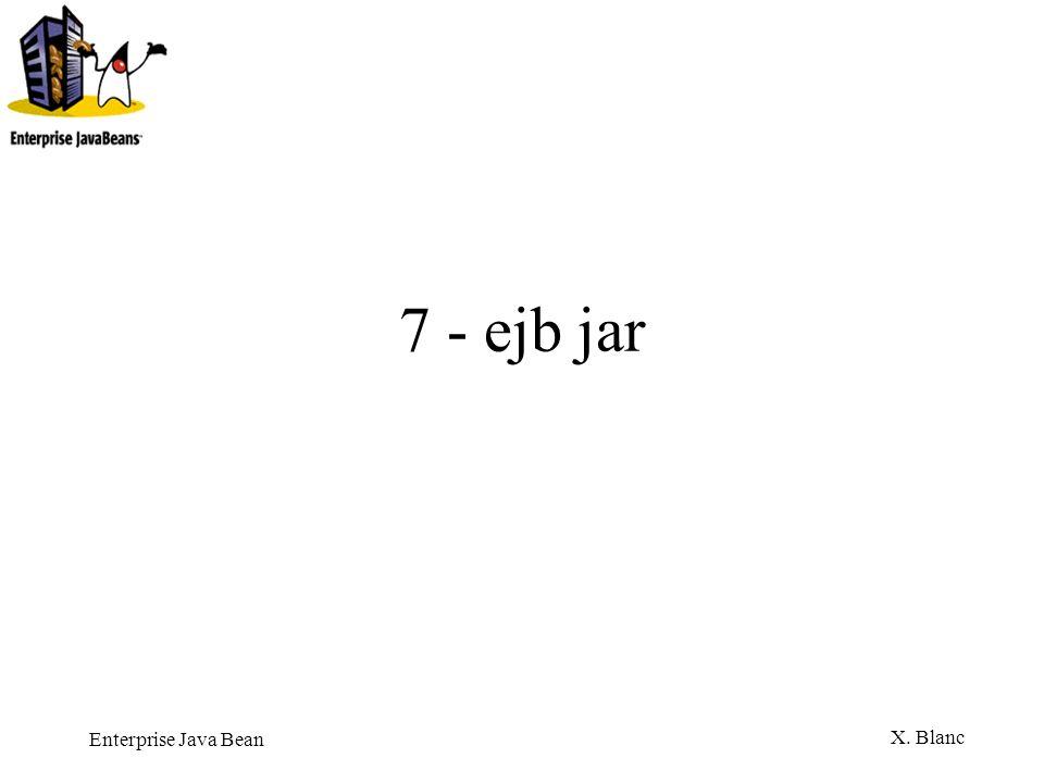Enterprise Java Bean X. Blanc 7 - ejb jar