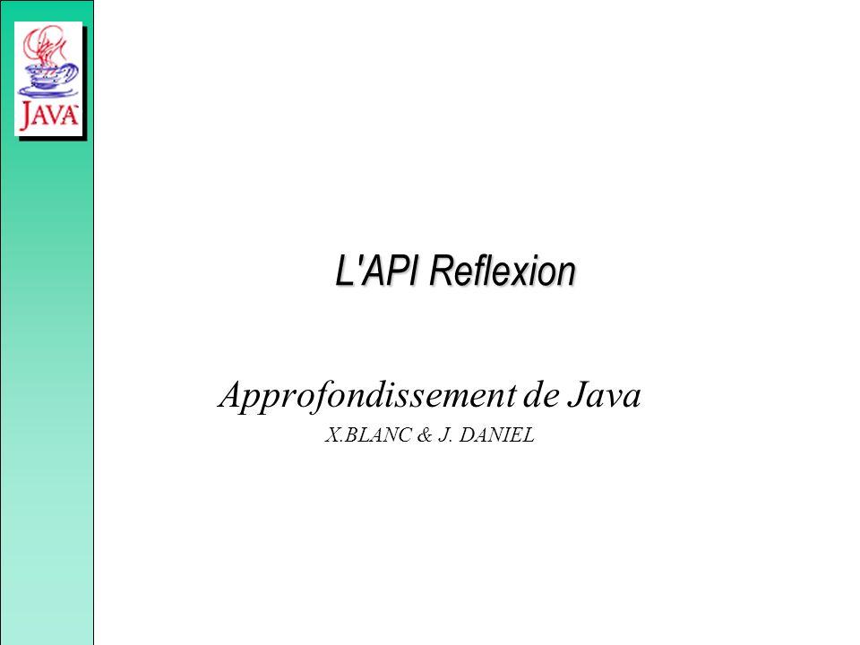 L'API Reflexion Approfondissement de Java X.BLANC & J. DANIEL