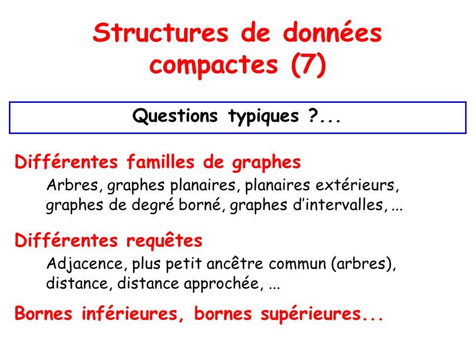 Structures de données compactes (7) Questions typiques ...
