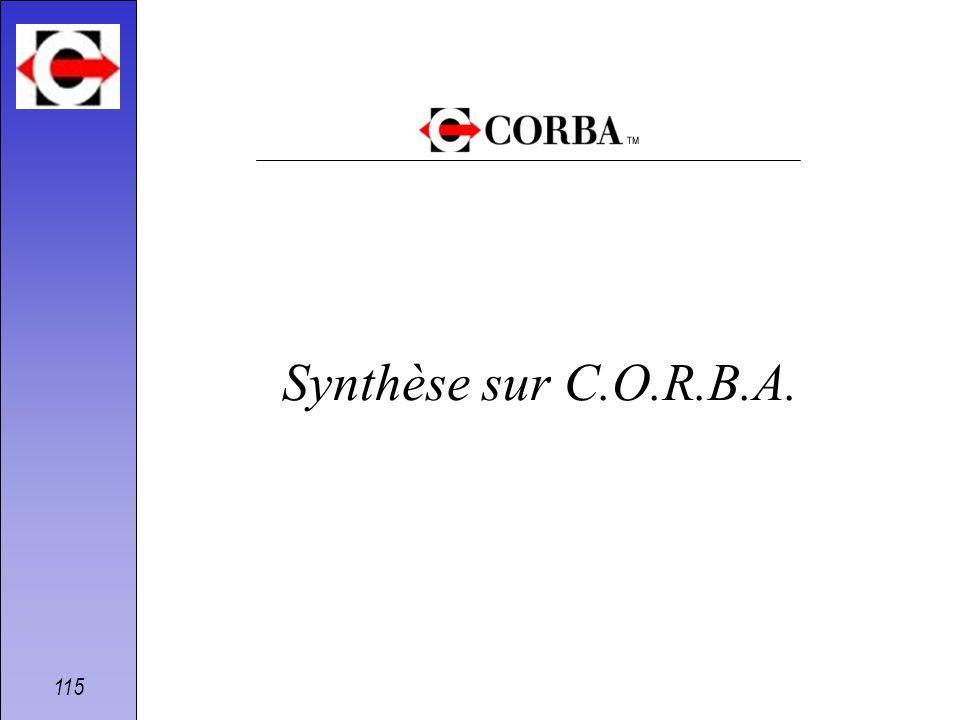 115 Synthèse sur C.O.R.B.A.