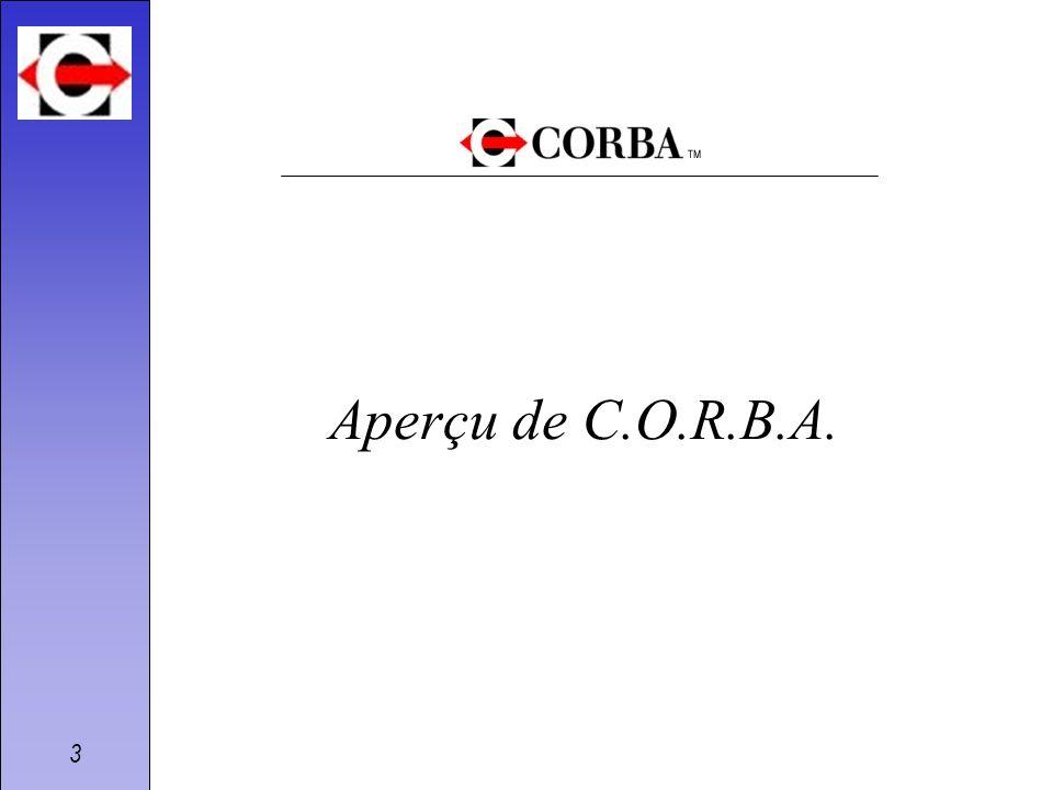 3 Aperçu de C.O.R.B.A.