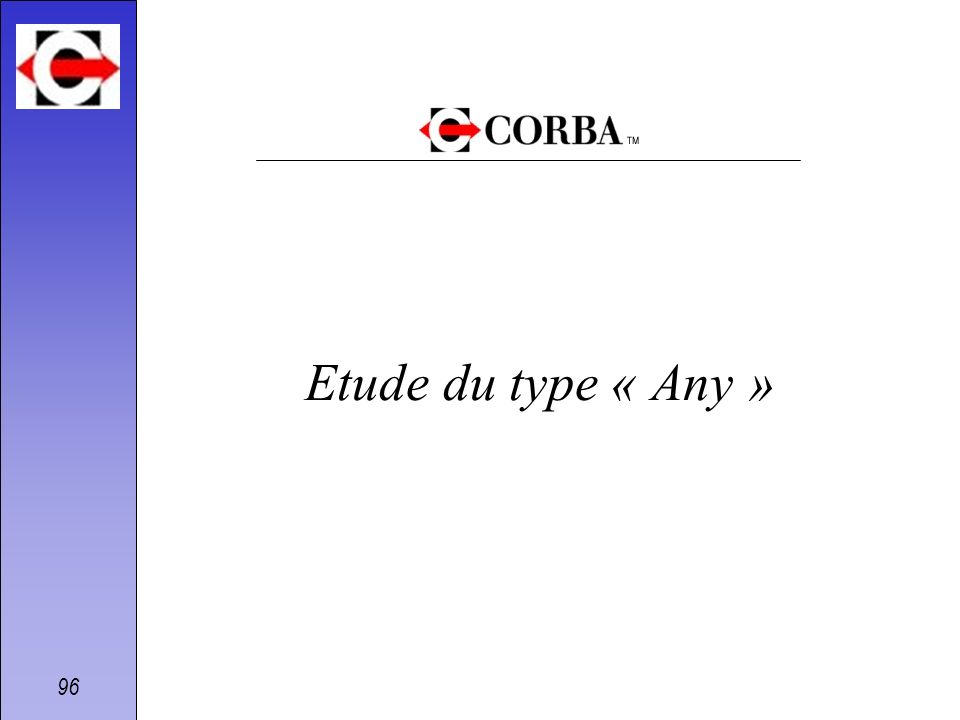 96 Etude du type « Any »
