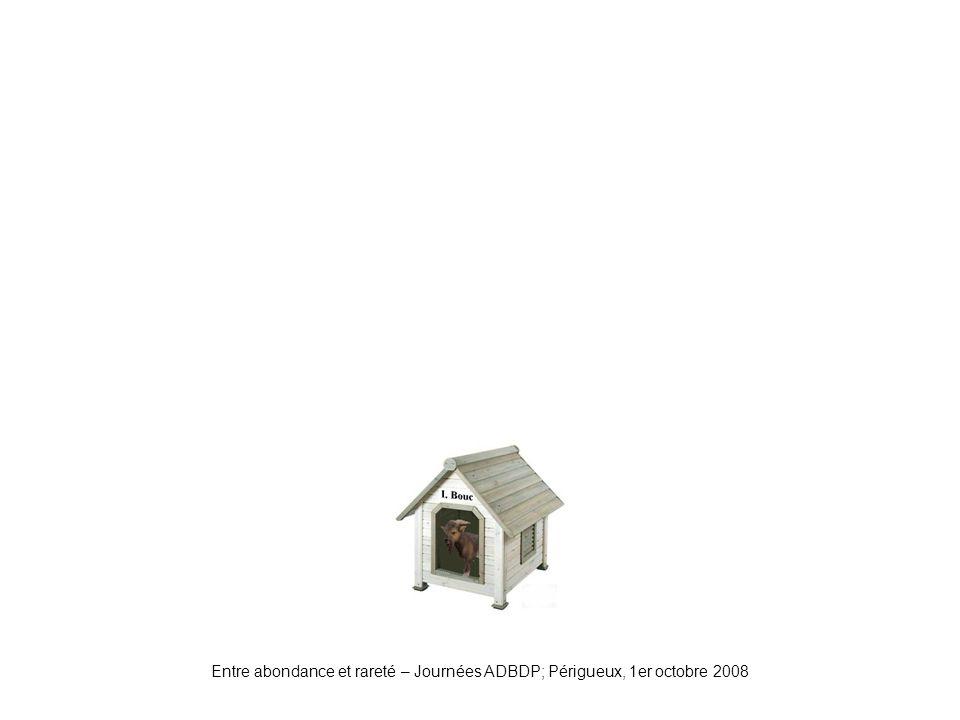 Entre abondance et rareté – Journées ADBDP; Périgueux, 1er octobre 2008 Niche1