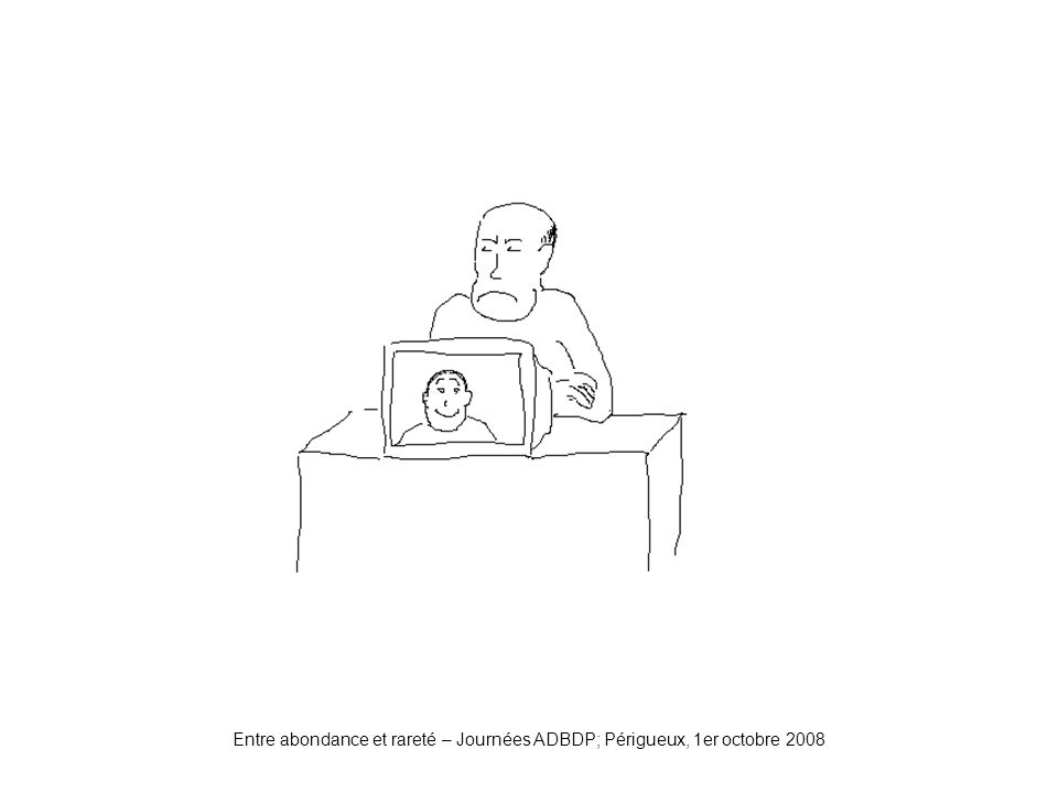 Entre abondance et rareté – Journées ADBDP; Périgueux, 1er octobre 2008 Nouvellerelation