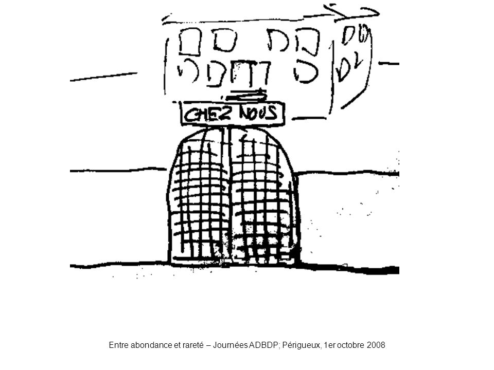 Entre abondance et rareté – Journées ADBDP; Périgueux, 1er octobre 2008 Portail1