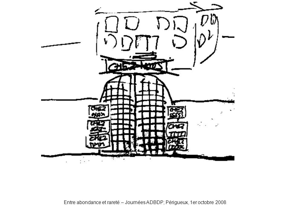 Entre abondance et rareté – Journées ADBDP; Périgueux, 1er octobre 2008 Portail2