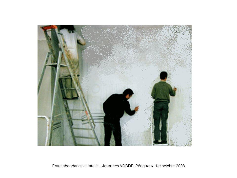 Entre abondance et rareté – Journées ADBDP; Périgueux, 1er octobre 2008 Plâtre