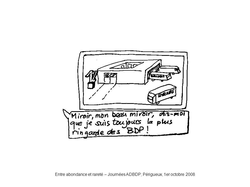 Entre abondance et rareté – Journées ADBDP; Périgueux, 1er octobre 2008 Miroir2