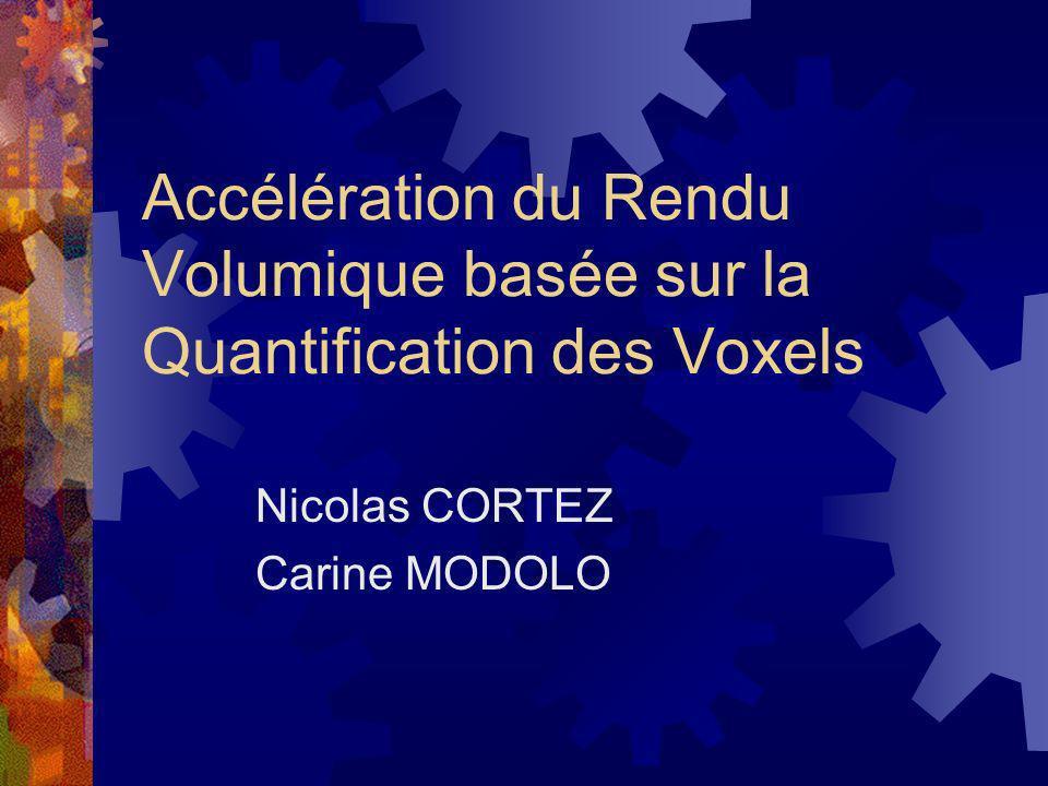 Accélération du Rendu Volumique basée sur la Quantification des Voxels Nicolas CORTEZ Carine MODOLO