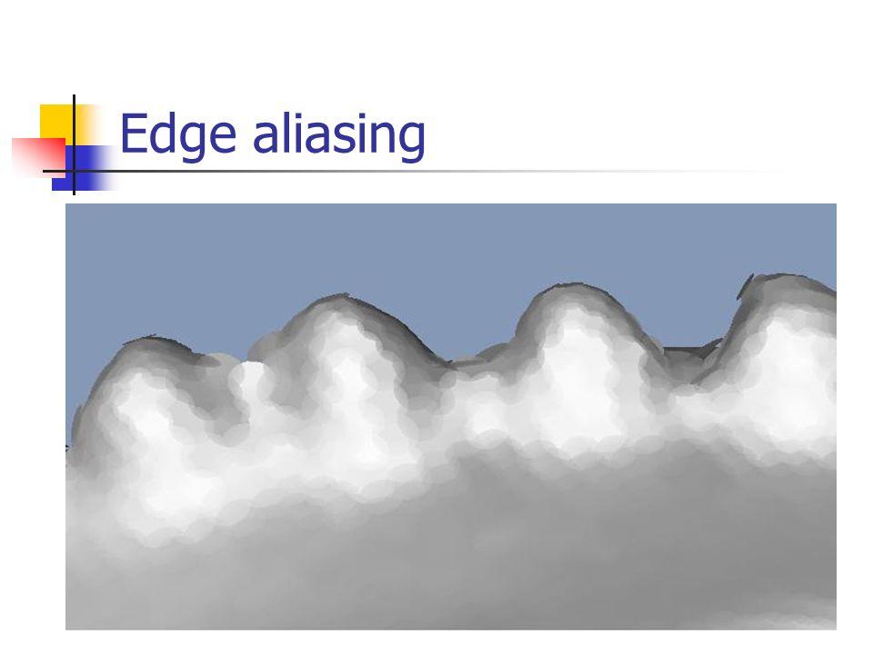 Edge aliasing