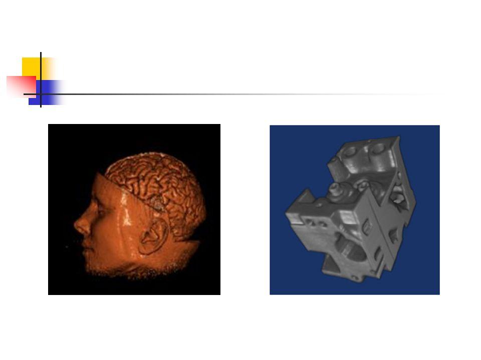 Algorithmes de rendu Il existe plusieurs méthodes pour visualiser les volumes de données: Extraction d iso-surfaces (algorithme des Marching Cubes) Ray Casting (backward mapping) Volume Splatting (forward mapping) Shear Warp (méthode hybride)