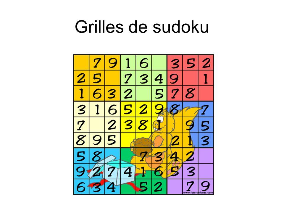 Grilles de sudoku