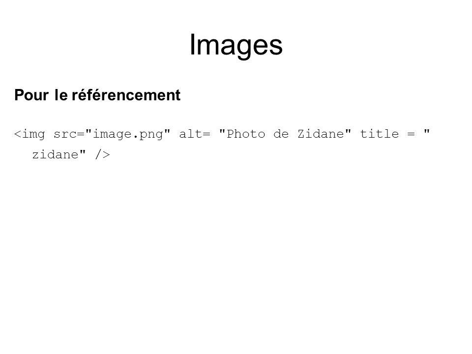 Images Pour le référencement