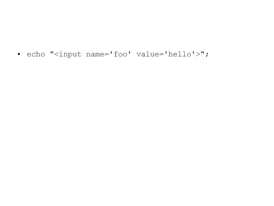 echo Micro$oft ; // résulte en: Micro$oft echo Micro$oft ; // résulte en: Micro + Contenu der Variable $oft echo Micro\$oft ; // résulte en: Micro$oft echo c:\temp ; // résulte en: c:\temp echo c:\temp ; // résulte en: c: + Tab + emp echo c:\\temp ; // résulte en: c:\temp echo c:\\temp ; // résulte en: c:\temp echo Pas de apostrophe : \x27 ; // résulte en: Pas de apostrophe : \x27 echo Un apostrophe : \x27 ; // résulte en: Un apostrophe echo Un apostrophe : \ ; // résulte en: Un apostrophe echo ; // HTML valide Apostrophes plus fidèle sur le texte
