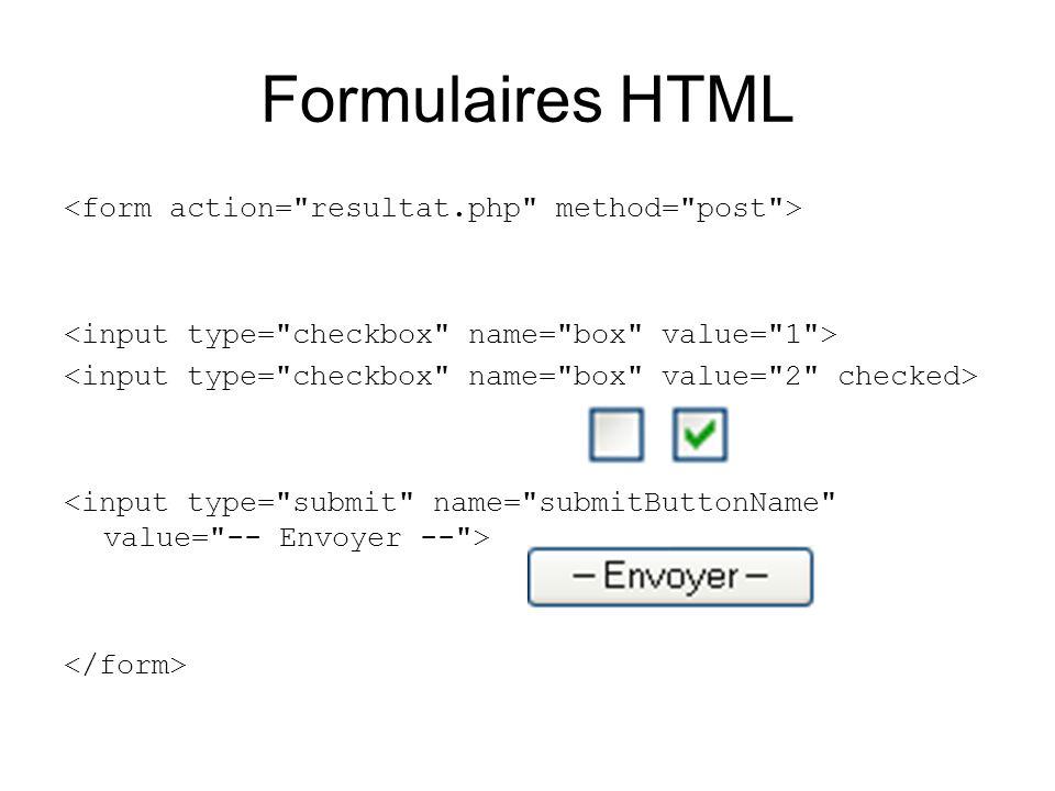 Formulaires HTML