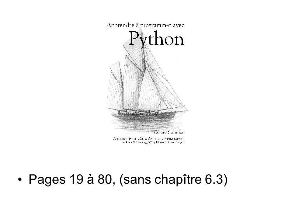 Pages 19 à 80, (sans chapître 6.3)