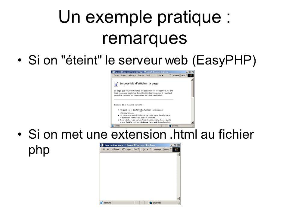 Balise Les scripts php étant destinés à être utilisés à l intérieur de pages HTML, il faut une balise spéciale permettant au parser / interpréteur php de savoir à quel endroit se trouve le code.