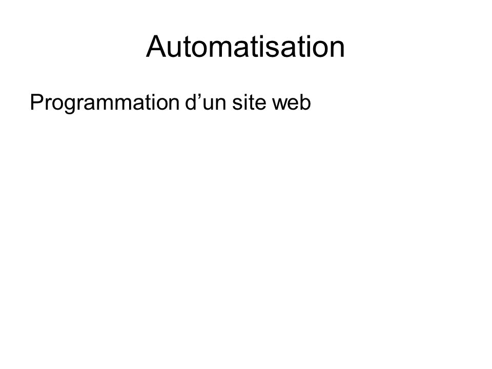 Programmation dun site web
