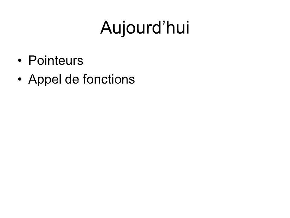Fonctions Déclaration dune fonction type_retour nom_de_la_fonction(type1 argument1, type2 argument2,…) { // bloc dinstruction } Appel de fonction type_retour variable_de_retour; variable_de_retour=nom_de_la_fonction(argument1, argument2,..); Prototype de la fonction type_retour nom_de_la_fonction(type1 argument1, type2 argument2,…);