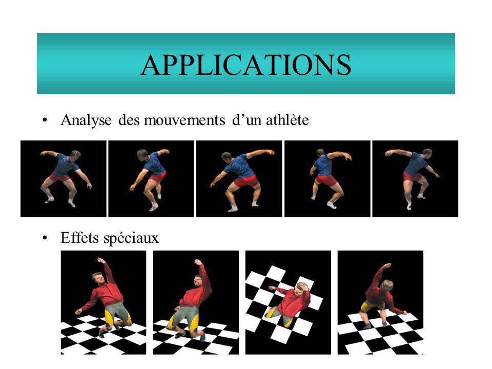 Analyse des mouvements dun athlète Effets spéciaux APPLICATIONS