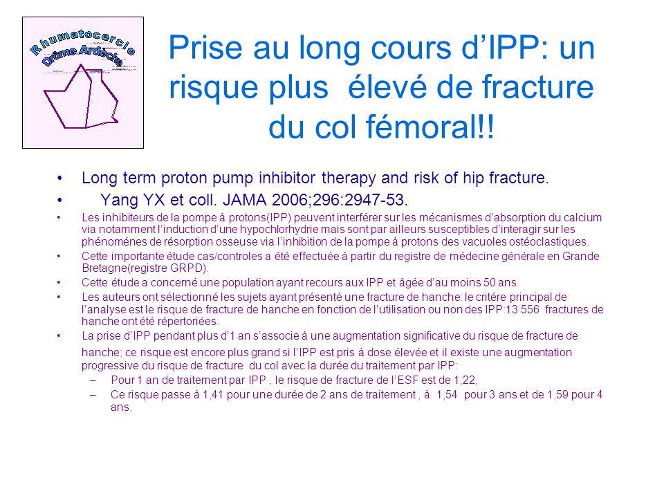 Prise au long cours dIPP: un risque plus élevé de fracture du col fémoral!.