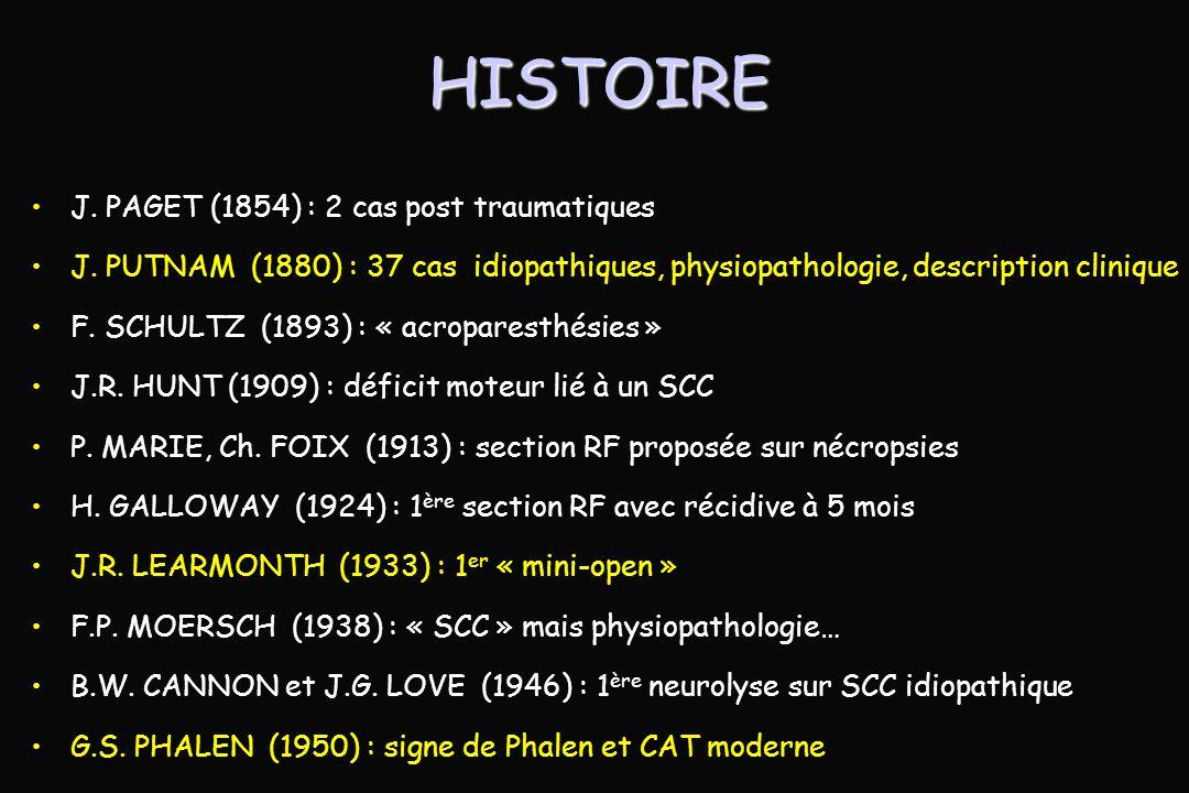 HISTOIRE J.PAGET (1854) : 2 cas post traumatiques J.