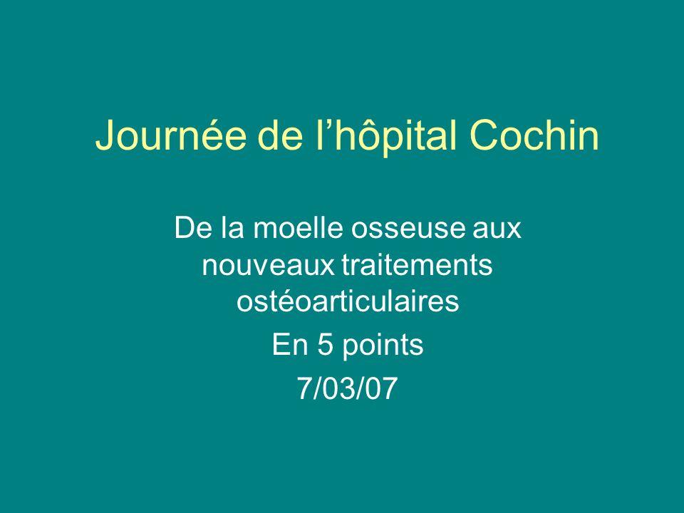 Journée de lhôpital Cochin De la moelle osseuse aux nouveaux traitements ostéoarticulaires En 5 points 7/03/07