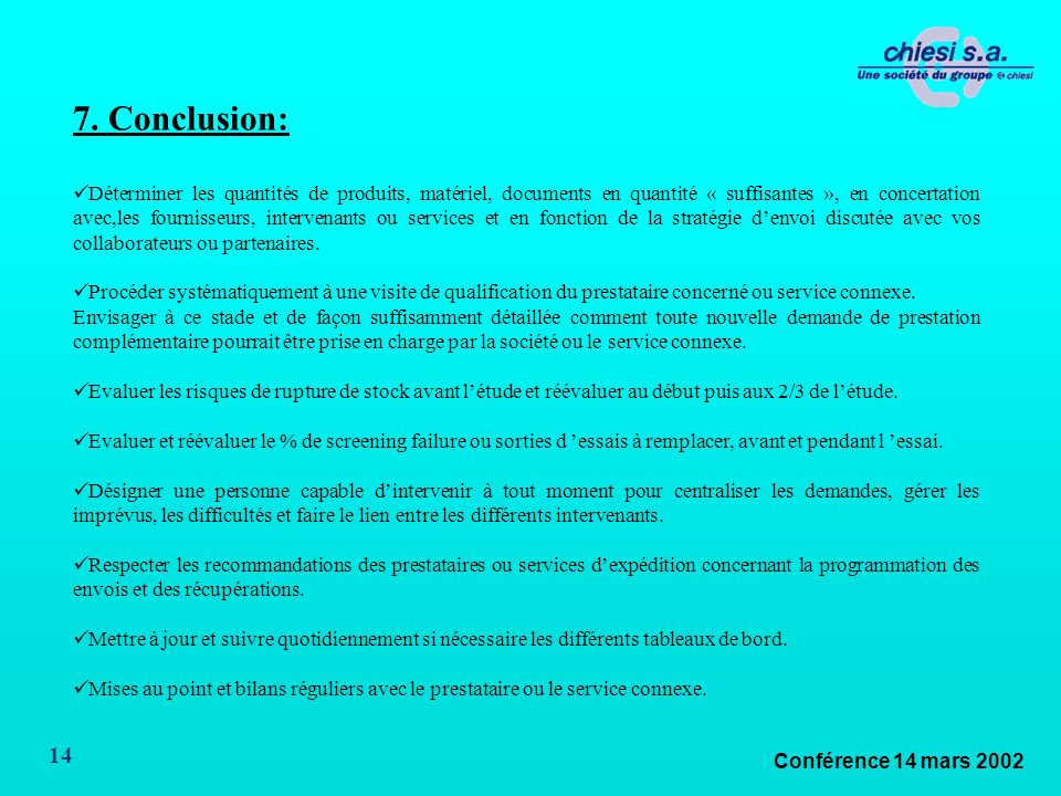 Conférence 14 mars 2002 14 7.