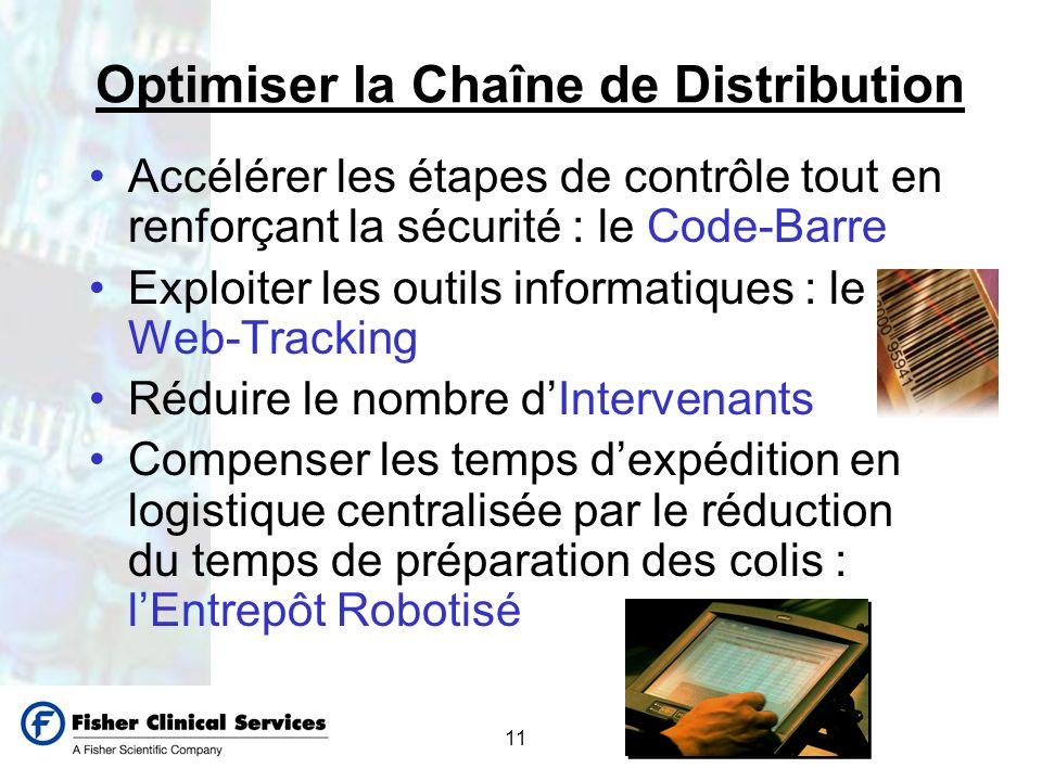 11 Optimiser la Chaîne de Distribution Accélérer les étapes de contrôle tout en renforçant la sécurité : le Code-Barre Exploiter les outils informatiq