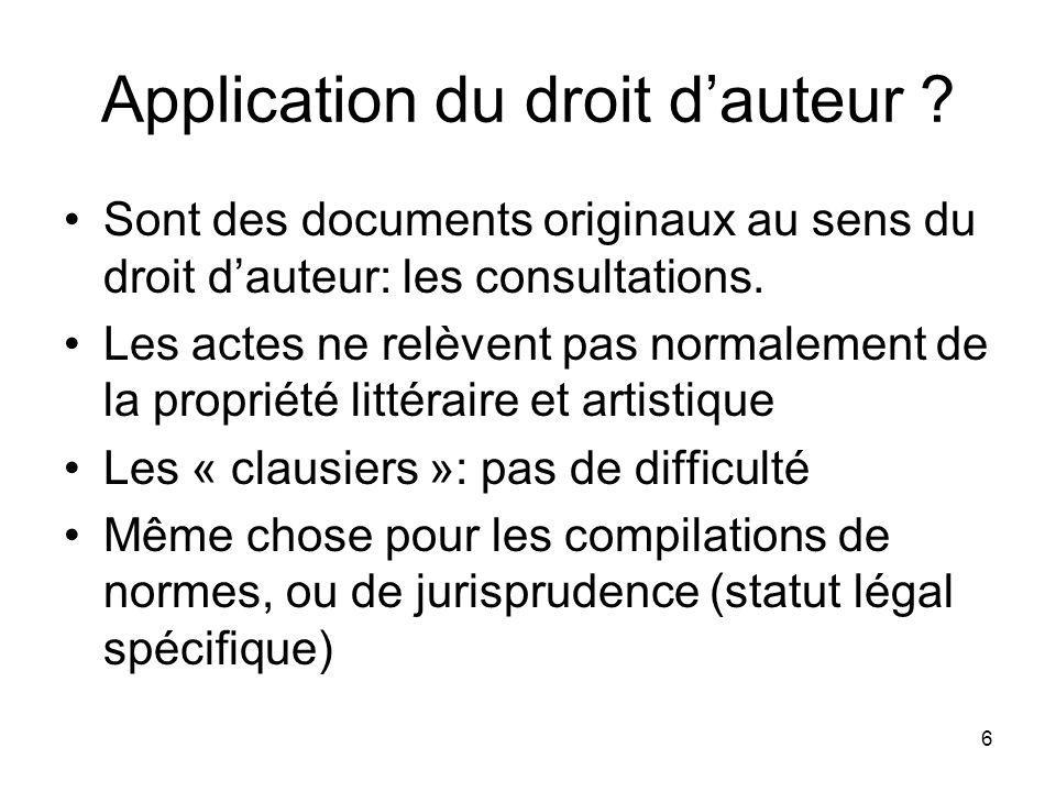 6 Application du droit dauteur .