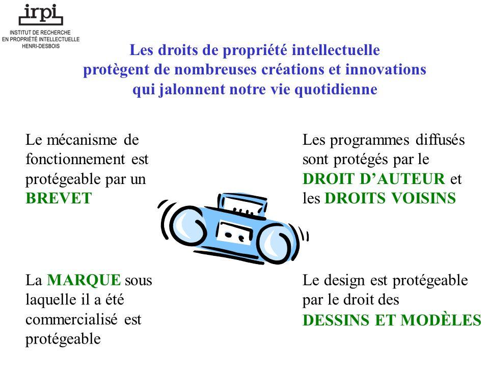 Les droits de propriété intellectuelle protègent de nombreuses créations et innovations qui jalonnent notre vie quotidienne Le mécanisme de fonctionne